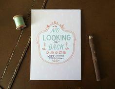 No Looking Back..