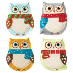 adorable owl plates.. these are just too precious!!