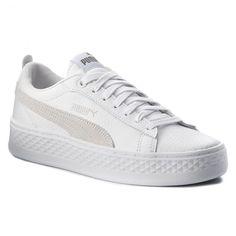 dd6436c1b Sneakersy PUMA - Smash Platform L 366487 06 Puma White/Puma White/White