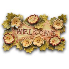 create a beautiful welcome plaque out of wet clay Slab Pottery, Ceramic Pottery, Ceramic Art, Pottery Angels, Plaster Art, Clay Tiles, Handmade Tiles, Pottery Making, Wallpaper Pictures