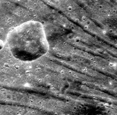 The Troughs of Pantheon Fossae (NASA, Mercury MESSENGER, 12/25/11)