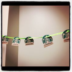 Use Starbucks coffee sleeves to make a party banner! Starbucks Crafts, Starbucks Hacks, My Starbucks, Starbucks Secret Menu, Starbucks Birthday Party, 12th Birthday Party Ideas, It's Your Birthday, Birthday Parties, Bee Creative