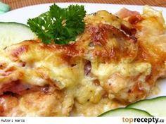 Zapečené kuřecí medailonky Top Recipes, Recipies, Special Recipes, Poultry, Baked Potato, Potato Salad, Mashed Potatoes, Cauliflower, Cravings