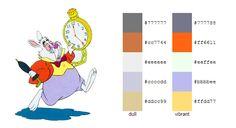 #color #palette #scheme Alice in Wonderland (Disney) - White Rabbit