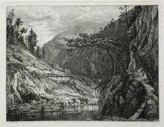 Louis Gurlitt (1812-1897) - Landschaft mit Gebirge und Fluss