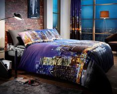 New York Night Life Multi Duvet Quilt Cover Bedding Set — Linens Range Discount Bedding Sets, Bedding Sets Online, Best Linen Sheets, Bed Sheets, Best Duvet Covers, Bed Covers, Pillow Covers, King Size Bedding Sets, Comforter Sets