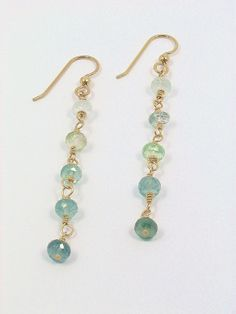 Tourmaline Earrings 14K Gold Filled