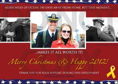 2012 Christmas card ideas--Homecoming - Any Occasion - Christmas Holiday Photo Greeting card - Digital File -  Patriotic Papers. $25.00, via Etsy.