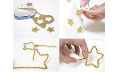 DIY gorrito de cumpleaños de estrellas
