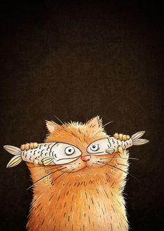 Cats cute illustration character design 60 Ideas for 2019 Arte Sketchbook, Cat Wallpaper, Hello Wallpaper, Cute Illustration, Digital Illustration, Medical Illustration, Technical Illustration, Animal Drawings, Animal Illustrations