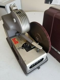 This is an original Micromatic version, that was replaced by cassette tape versions. I have plugged it in and tried both the record player and projector. Projector Bulbs, Movie Projector, Studio Lamp, Filmstrip, Sound Film, Film Reels, Light Project, Projectors, Record Player