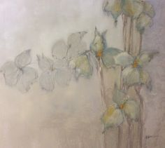 M. Allison Fine Art: Contemporary Oil and Graphite  Abstract Floral Pai...