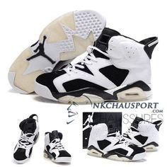 Nike Air Jordan 6 | Classique Chaussure De Basket Homme Blanche/Noir