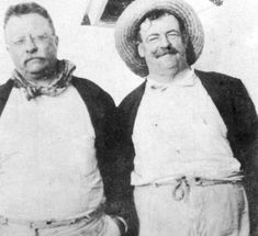 #TheodoreRoosevelt and his traveling companion Russell J. Coles, who visited #CaptivaIsland for its #fishing. (SWFL Historical Society photo)