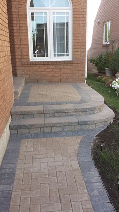 Interlock steps and entrance front entrance pinterest front interlock front steps and walkway solutioingenieria Choice Image