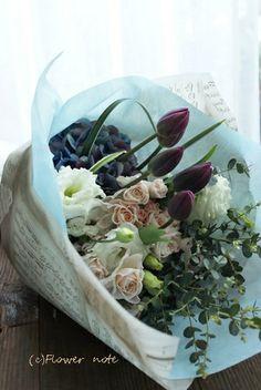 【今日の贈花】男性に贈る花束 http://ameblo.jp/flower-note/entry-11812918114.html