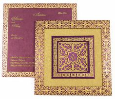 D-5682, Purple Color, Shimmery Finish Paper, Laser Cut Cards, Hindu Cards, Exclusive Invitations