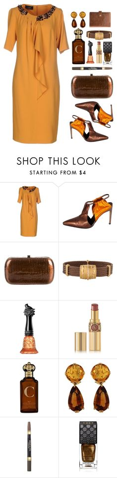 """""""Untitled #370"""" by rasc2016 ❤ liked on Polyvore featuring Clips, Givenchy, STELLA McCARTNEY, Charriol, Anna Sui, Yves Saint Laurent, Clive Christian, Valentin Magro, Black Radiance and Gucci"""