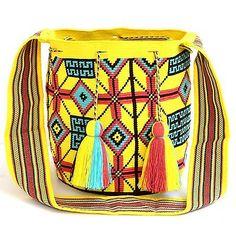 AUTHENTIC MOCHILA WAYUU / LARGE SIZE / FINEST QUALITY / HANDMADE CROSS BODY BAG in Clothing, Shoes & Accessories, Women's Handbags & Bags, Handbags & Purses   eBay