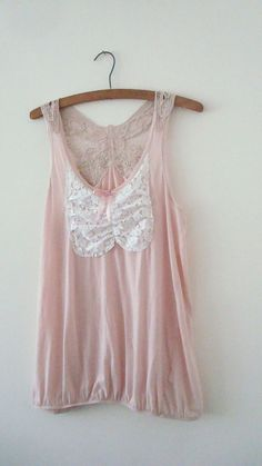 Butterfly Top Dusty Pink  Pastel Upcycled Woman's Clothing Romantic Eco Summer Fashion Doll Party  handmade in UK OOAK. $45.00, via Etsy.