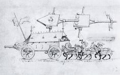 Hussite War Wagon from a Hausbuch from 1480