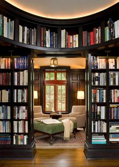 black painted bookcases