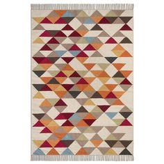 Tapis Murray AM.PM : prix, avis & notation, livraison. On aime ses motifs graphiques colorés.Un style contemporain. Idéal pour structurer l'espace. 100% coton. Finition frangée nouée.