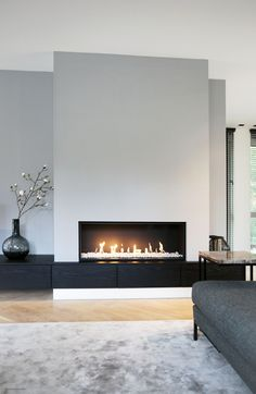 moderner Wohnzimmerkamin 1 Source by SandyMarry The post moderner Wohnzimmerka. - moderner Wohnzimmerkamin 1 Source by SandyMarry The post moderner Wohnzimmerka… contempo - Wall Units With Fireplace, Home Fireplace, Fireplace Remodel, Living Room With Fireplace, Fireplace Design, Home Living Room, Living Room Designs, Living Room Decor, Modern Fireplaces