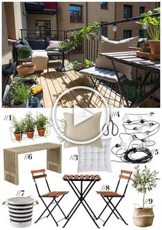 Small Balcony Design, Small Balcony Garden, Small Balcony Decor, Apartment Balcony Garden, Apartment Balcony Decorating, Porch Decorating, Interior Garden, Interior Design Living Room, Diy Home Decor