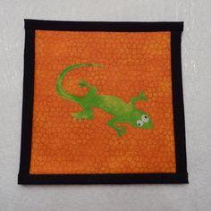 Gecko Pot Holder, Lizard Pot Holder, Chameleon Pot Holder by QueenBeeStitcheryTX on Etsy