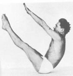 """Joseph Pilates demonstrating """"Teaser"""""""