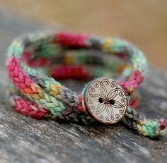 Wrap Bracelet  Rustic I Cord  Button Closure  by thesittingtree, $25.00
