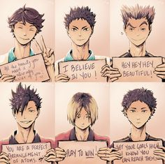 Lulii999's Page - Life advice from some of the Haikyuu boys