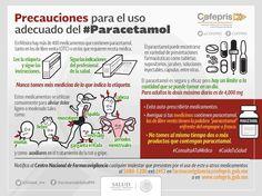 Precauciones para uso adecuado de paracetamol.