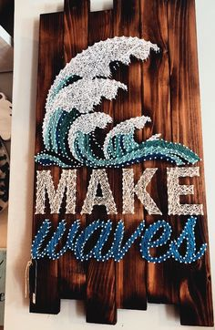 Decorate Your Home With Home Decor And Craft! - Decorate Your Home With Home Decor And Craft! Decorate Your Home With Little Touches And Crafts! String Art Diy, String Art Quotes, String Art Tutorials, Diy Room Decor, Wall Decor, Beachy Room Decor, Surf Decor, Room Decorations, Diy And Crafts