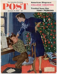 'Christmas Thank You Notes' by George Hughes  -- cover of January  9, 1960, 15 cents (vintage Christmas)