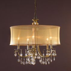 Modern Glam Shaded Crystal Chandelier - 5 Light - Love for the dining room.