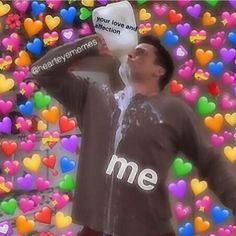 Funny Couple Memes I LOVE YOU in 100 different languages Necklace Best gift for your loved ones Kermit, Sapo Meme, Dankest Memes, Funny Memes, Makeup Life Hacks, Heart Meme, Heart Emoji, Current Mood Meme, Cute Love Memes