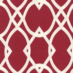 Lattice Squares Crimson Indoor/Outdoor Upholstery Fabric - Fabric By The Yard At Discount Prices