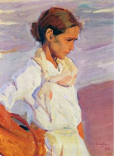 Joaquín Sorolla y Bastida, Pescadora valenciana (Valencian Fishergirl), 1916. Oil on canvas, 14.6 x 18.1 in. Private collection