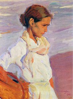 Joaquín Sorolla y Bastida, Pescadora valenciana (Valencian Fishergirl), 1916. Oil on canvas, 14.6 x 18.1 in. Private collection