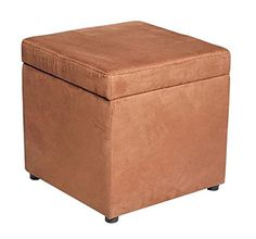 16 Storage Ottoman Bench Square Footstool Seat Living Room Furniture Microfiber Brown With Ebook ** You can find out more details at the link of the image. (This is an affiliate link) #FurnitureOttomansandStorageOttomans