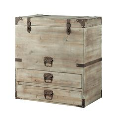 Baúl Romaric Wooden Trunks, Flat Ideas, Wood Boxes, Decoration, Storage Chest, Home Accessories, Sweet Home, House Design, Shopping
