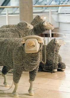 Jean Luc Cornec - telephone sheep object @ Frankfurt Museum of Communications by temp13rec., via Flickr