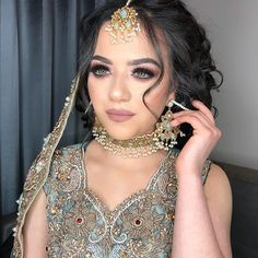 WEBSTA @beauty.by.aisha Beauty at its finest Allahumma Barik Aleena is so naturally beautiful it's insane Ma'sha'Allah! 😍💗 I just loved everything about this bridal look! So soft and elegant Pakistani Bridal glam 👏🏽🇵🇰 Makeup by me Hair by the amazing @hairbyrukhsar Gorgeous outfit from @neeslondon Beautiful jewels by @nk_collection Stunning model @aleena1._