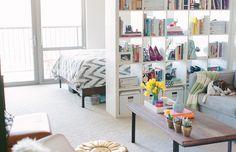www.theeverygirl.com   Studio, Bachelor, Bachelorette Apartment  Decor, Interior Design