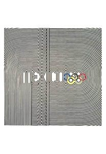 Official poster for the 1968 Olympic Summer Games in Mexico City Mexico  Latin