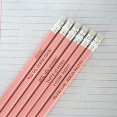 mean girls pencils - love