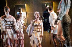 Snow White Variation.Snow White  Ballet Preljocaj  costumes by Jean Paul Gaultier  Photograph by Elliott Franks