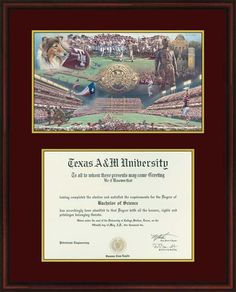 home of the man top diploma frames texas am aggies collegiate